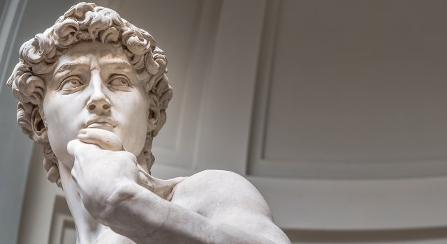 Michelangelo's David at the Accademia, Florence