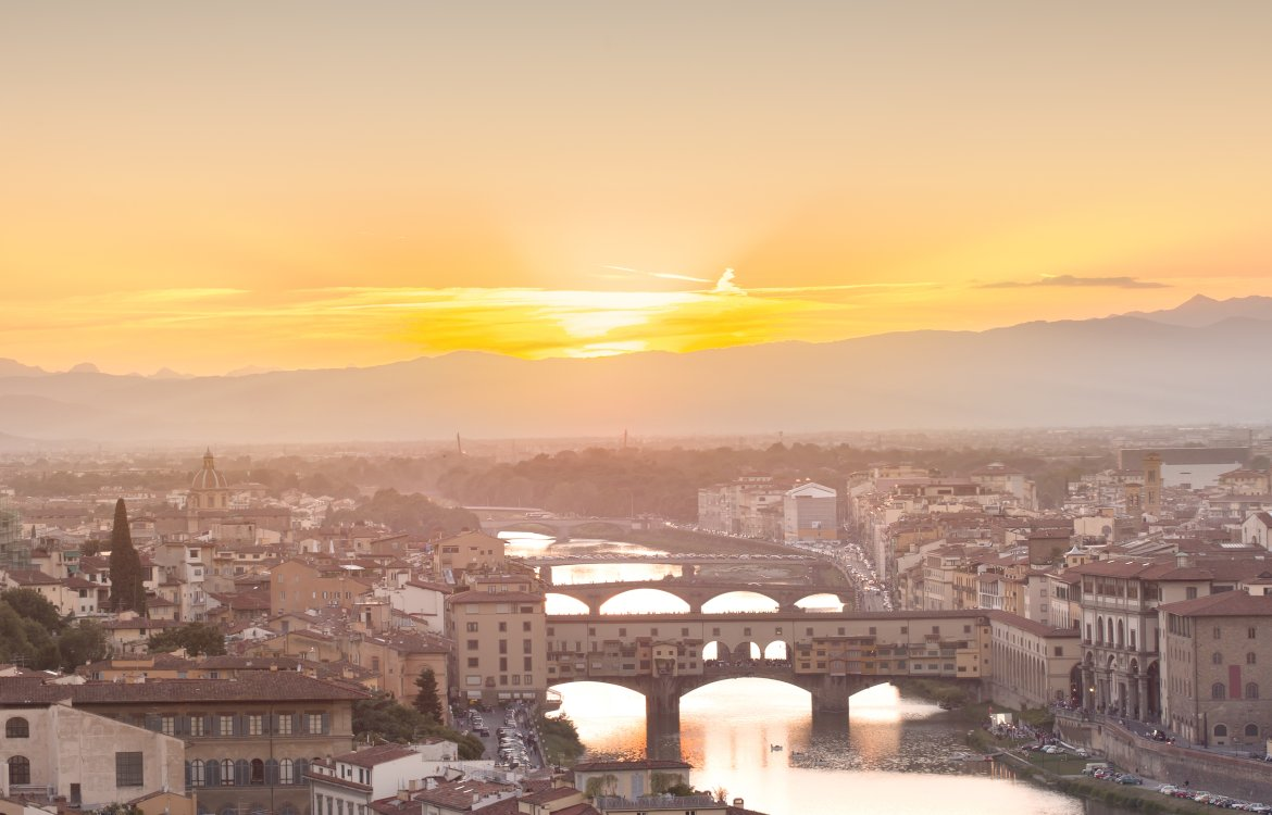 Florence, looking over the Pontevecchio