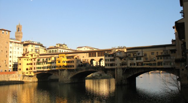 An image of the Vasari Corridor, Florence