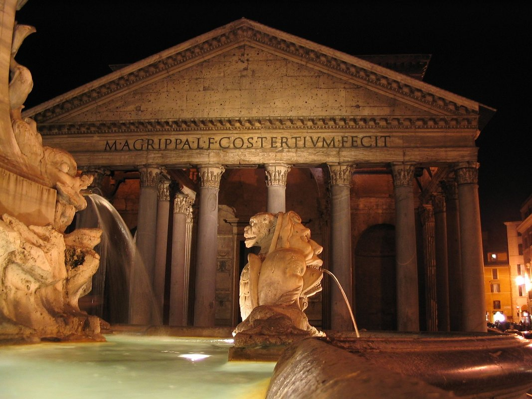 A view of Ancient Rome, the Pantheon