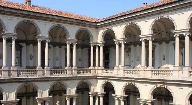 An image of Milan's Brera Gallery