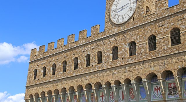An image of the Palazzo Vecchio, Florence
