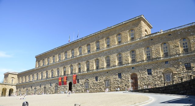 An image of the Pitti Palace, Florence