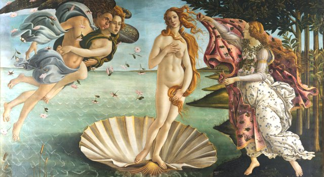 Boticelli's Venus at the Uffizi Gallery, Florence