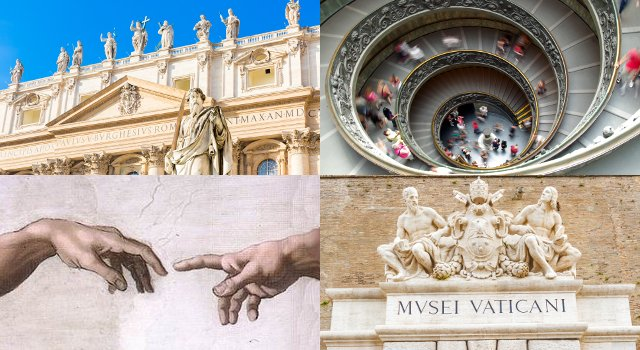 A collage of Vatican images