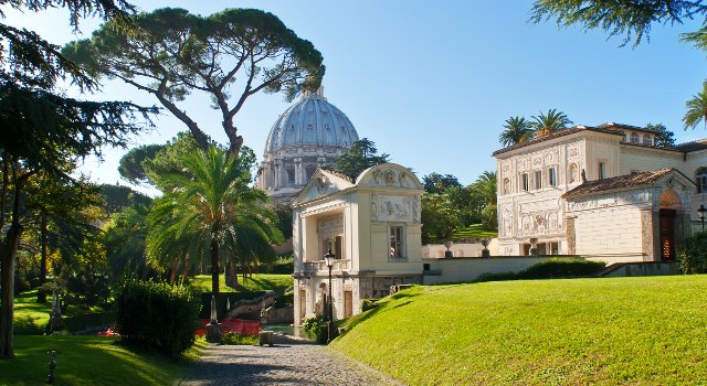 An image of the Vatican gardens