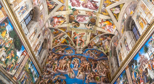 An image of the Sistine Chapel