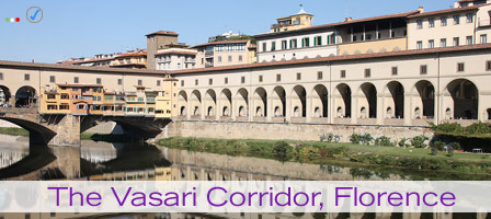 Photograph of the Vasari Corridor, Florence