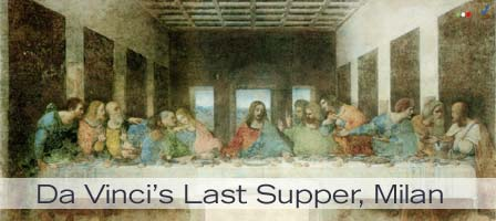 An image of Da Vinci's Last Supper, Milan, Italy