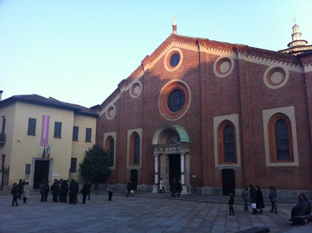 An image of the church inb Milan that is home to Da Vinci's Last Supper