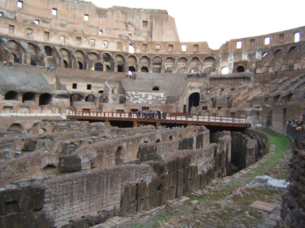 Colosseum interior, from lower levels, 2012