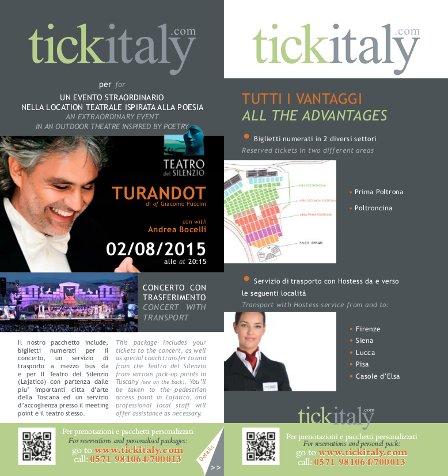 Andrea Bocelli tickets, Teatro del Silenzio 2015