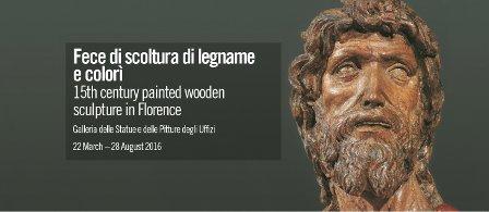 Uffizi exhibition – Fece di scoltura di legname e colori