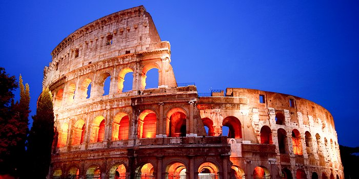 Rome, Colosseum & Forum by night 2017, newsletter sign-up.
