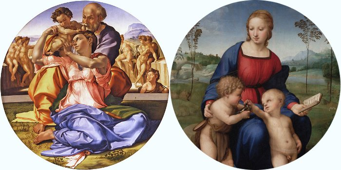 New Room at the Uffizi – Michelangelo and Raphael