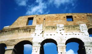 Photograph of the Coliseum in Rome, Italy