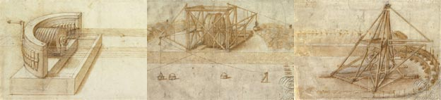 Images of works by Leonardo da Vinci