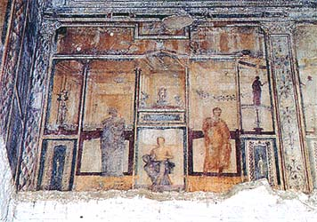 Photograph of Nero's House - Domus Aurea - in Rome, Italy
