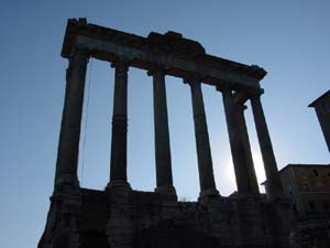 Photograph of the Forum in Rome, Italy