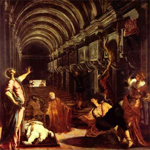 An image of Finding Of The Body Of Saint Mark by Tintoretto, Brera, Milan