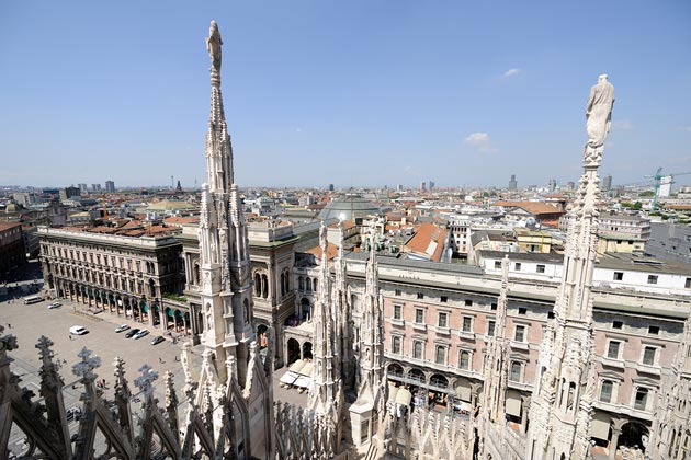 Milan, Italy - an image from the roof of the cathedral