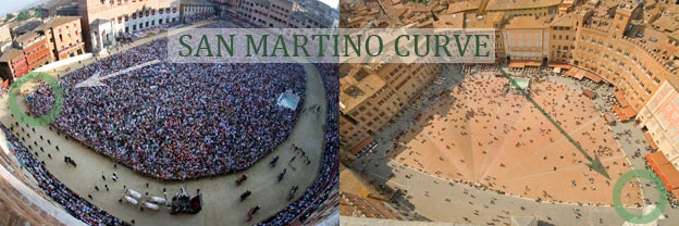 The Siena Palio from above