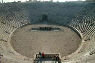 The interior of the Verona Arena