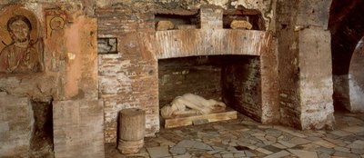 Some images from sights on the Christian Rome and catacombs tour