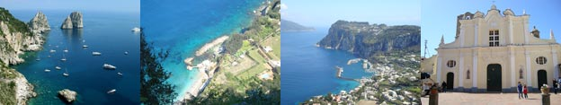 Some images from sights on the Capri tour