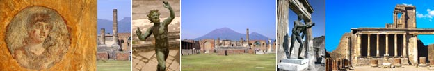 Some images from sights on the Pompeii tour