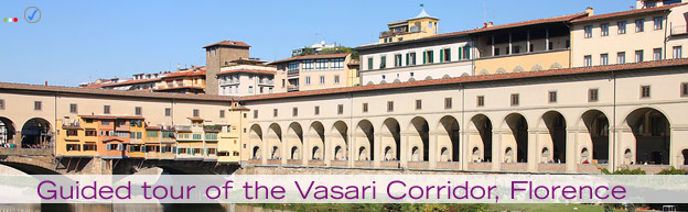 Florence, Italy - an image of the Pontevecchio and the Vasari corridor